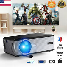 Portable HD 1080P Projector LED LCD Home Theater USB VGA 5000 Lumens Multimedia