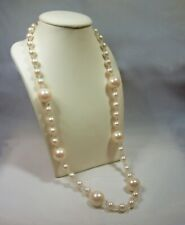 Vintage Single Strand Faux Pearl Necklace Signed Trifari