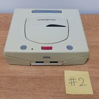 Sega Saturn Console White Saturn Power OK Not Tested For Parts DHL FedEx #2