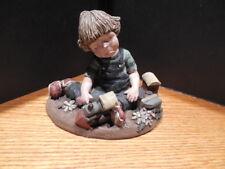 Sarah's Attic Bomber Tom With Train Resin Figurine 1993