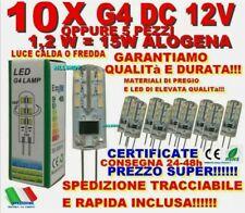 5-10 Pz LAMPADINA G4 24 LED 3014 1,2W DC12V LUCE FREDDA-CALDA LAMPADA 12V OTTIME