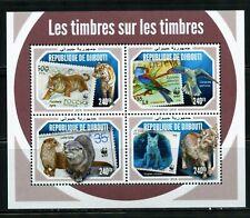 Djibouti 2018 Stamp On Stamp Wwf Sheet Mint Never Hinged