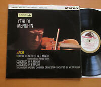 ASD 346 ED1 Yehudi Menuhin Bach Violin Concertos NM 1960 HMV 1st W/Gold Stereo
