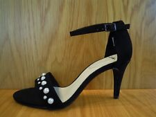 Clarks Ladies Shoes Size 7 Black Leather Suede High Heel Ankle Strap Sandals NEW