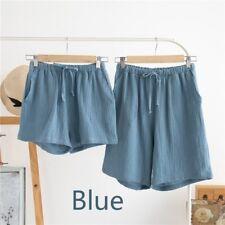 Couple Lover Cotton Shorts Lady Men Home Wear Pajamas Summer Sleepwear Pants Set