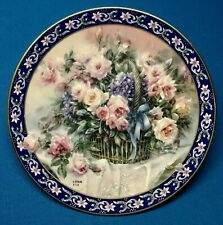 Bradford Exchange - Roses - Lena Liu's Basket Bouquets Collector's Plate - 1992