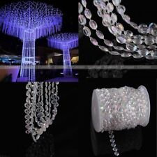 99 FT Iiridescent Garland Diamond Strand Acrylic Crystal Bead Wedding Decoration