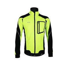 Men's Cycling Jacket Windproof Waterproof Sport Coat Fleece Lined Biking Outwear