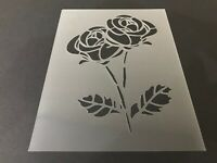 Rose #3 Stencil 10mm or 7mm Thick, Roses, Flowers, Love, Valentine