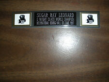 SUGAR RAY LEONARD (BOXING) NAMEPLATE FOR SIGNED GLOVES/TRUNKS/PHOTO DISPLAY