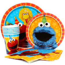 Sesame Street Elmo Combo Party Express Pack for 8 Guests (Cups Napkins & Plates)