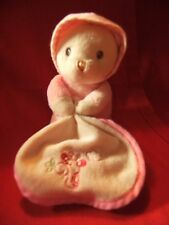 "AURORA BABY GIRL Rose Crème teddy bear soft toy 6"" Couette"
