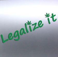 Legalize it Weed leaf plain Green pot Vinyl cut Car Sticker 225x60mm Aussie Made