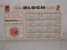 Vecchio calendarietto 1962 CALZA BLOCH MILANO Nailon sul retro Campionato calcio