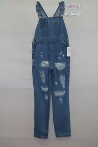Salopette L. L. Bean (Code S803) Taille M Jeans Used Vintage Custom Rupture en