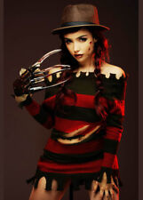 Womens Halloween Miss Freddy Krueger Costume