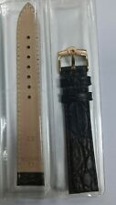 Omega 18mm Black Genuine Leather Watch Band Strap