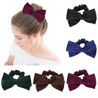 Women Girl Elastic Bow Scrunchies Velvet Hair Tie Ring Rope Band Ponytail Holder