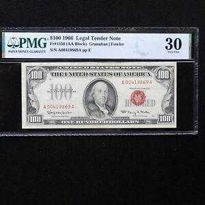 $100  1966 Legal Tender Note Fr # 1550, PMG 30 Very Fine, Granahan-Fowler