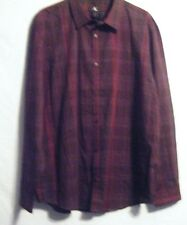 NWOT CALVIN KLIEN BURGUNDY STRIPES Mens Dress Shirt Long Sleeve Size XL 100% Co