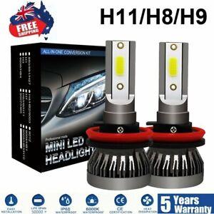 H11 H8 H9 6000K Super Power White LED Headlight Bulbs High/Low Beam Fog Light
