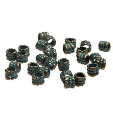 20pcs Vintage Bronze Verdigris Bail Charms Beads DIY Bracelet 6*6mm Accessory