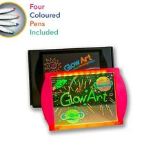 Glow Art Neon Effect drawing Board - Pink