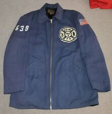Vtg Franklin Square Munson Fire Department Jacket Long Island NY FDNY Antique