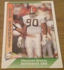Rob Burnett (Cleveland Browns) 1991 PACIFIC NFL Trading Card # 91
