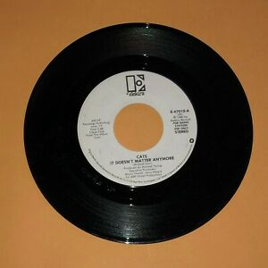 """Cats It Doesn't Matter Anymore 45 rpm Promo Record 1980 Ex Vintage Vinyl 7"""""""