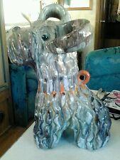 Italian Scottie dog pottery mid century modern sculpture 1950s Londi