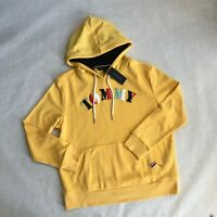 NWT Women's Tommy Hilfiger Hoodie TH Flag Yellow Sweatshirt Pullover Hoodie