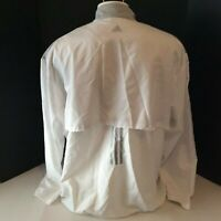Adidas Mesh Lined Vented Full Zip golf Windbreaker Track Jacket mens size 2XL