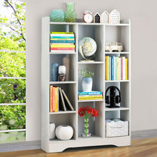 White 11 Cube Bookcase Corner Bookshelf Book Shelf Kid Storage Shelving Display