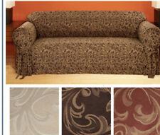 catherine round arm jacquard sofa slip cover