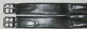 Sattelgurt, Stübben, echtes Leder, Langgurt, schwarz, 125 cm