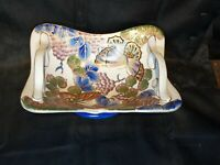 Colorful Porcelain Footed Centerpiece Fruit Platter made in China Handled