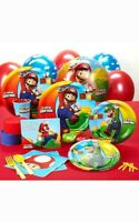 SUPER MARIO BROS BIRTHDAY PARTY PACK SUPPLIES DECORATIONS BALLOONS PLATES