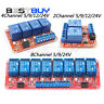2/4/8 Channel Relay Module Board With Optocoupler High/Low Level Trigger 5V-24V