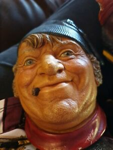 Rare Bossons Chalkware Head Figure Boatman Sailor Seaman Nautical Cigar Ferry