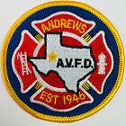 "Andrews Volunteer Fire Department AVFD Andrews County Texas TX Patch (I5) 3"""