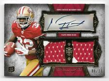 2011 Topps Supreme Red #KH Kendall Hunter Dual Rookie Patch Autograph #08/10