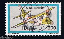 ITALIA 1 FRANCOBOLLO AEREO AERONAUTICHE ITALIANE G 222 AERITALIA 1981 usato