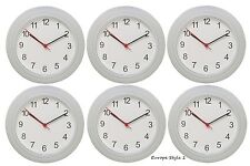 IKEA RUSCH BATTERY OPERATED WHITE WALL CLOCK 6 PACK