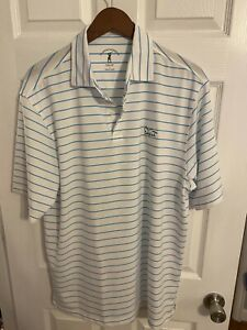 Fairway & Greene Tech Golf Ballyhack Large White with Light Blue Stripe  L