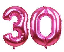 Zahlenballon Nummer 30 pink 86cm - 100cm Luftballons Folienballon Geburtstag XL