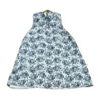 DON'T ASK AMANDA Label Size S Womens Blue Floral Swing Loose Dress