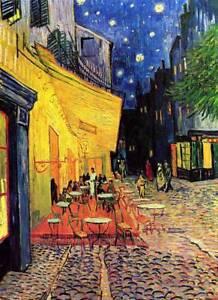 "VINCENT VAN GOGH - Cafe Terrace at Night - QUALITY CANVAS PRINT -  24x18"""