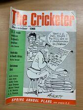 DEC 1966 THE CRICKETER MAGAZINE - D J INSOLE / CHRISTMAS QUIZ