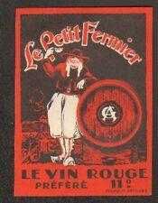 """ETIQUETTE VIN ROUGE / LE PETIT FERMIER """"G.A."""""""